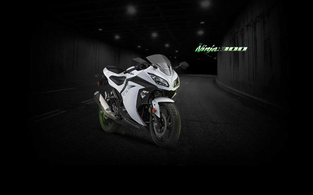 Ninja 300 White Tunnel Wallpaper