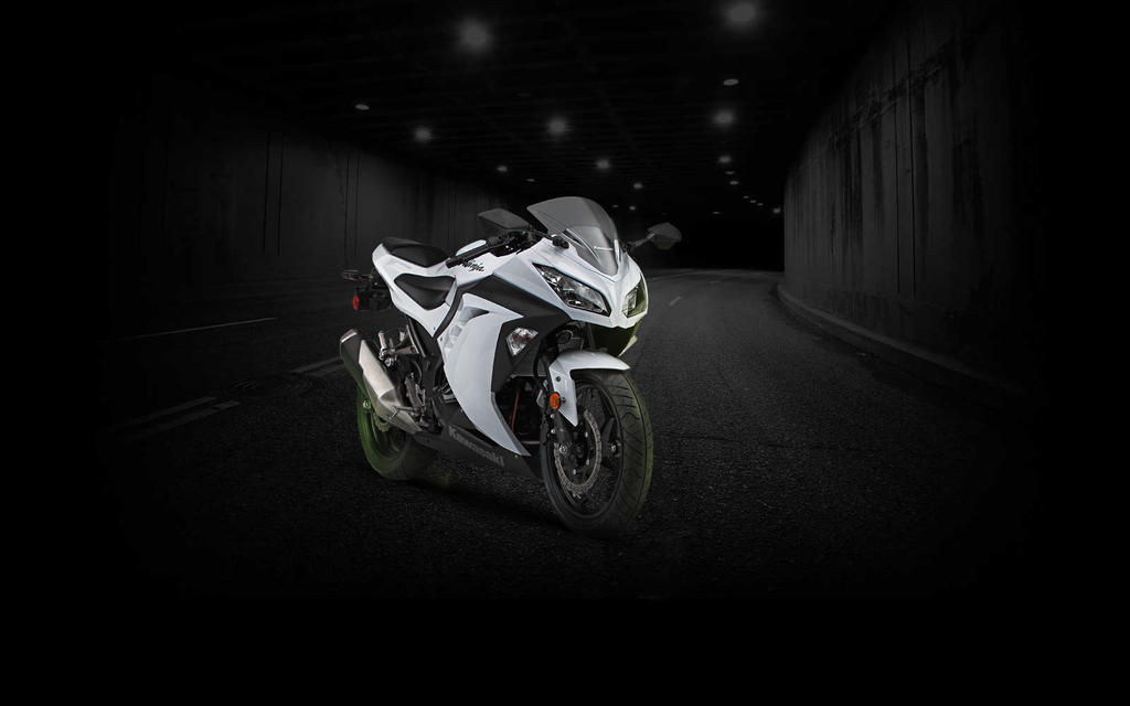 Ninja 300 White Tunnel Wallpaper