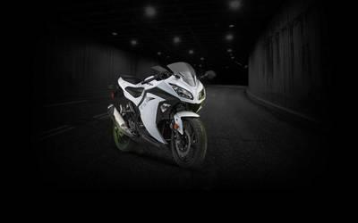 Ninja 300 White Tunnel Wallpaper - (Unbranded)