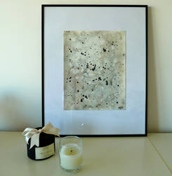 Abstract black and white painting