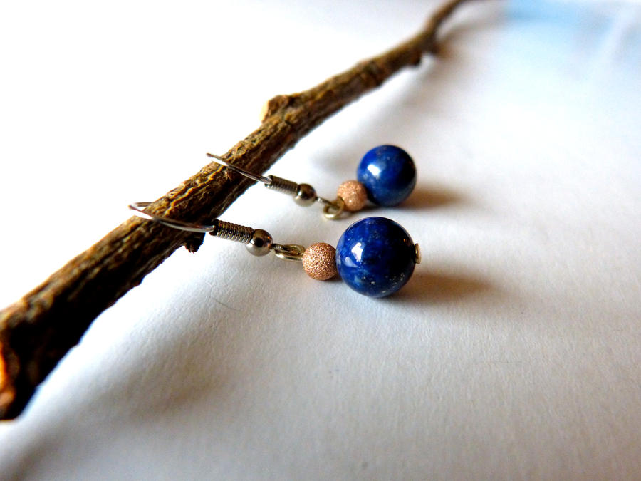 Lapis lazuli earrings by Lady-Kiwi