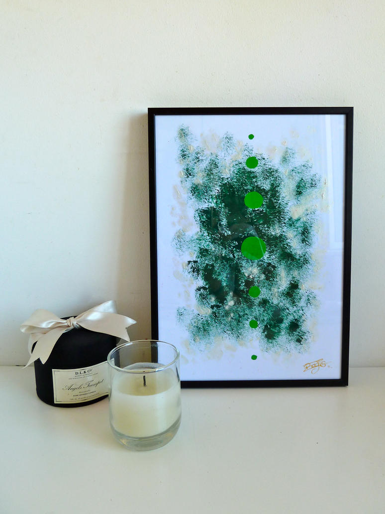 Green Abstract Painting by Lady-Kiwi
