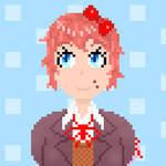 [Pixel Art] Sayori is hiding something...