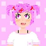 [Pixel Art] Natsuki in casual clothes