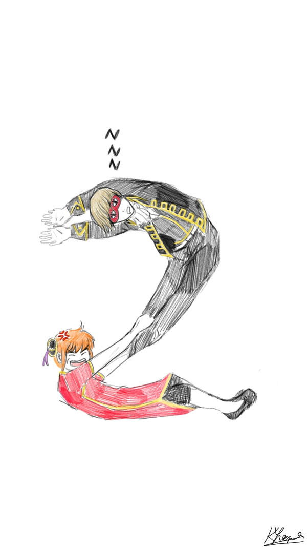 A couple of Gintama characters  by kaafa98nya