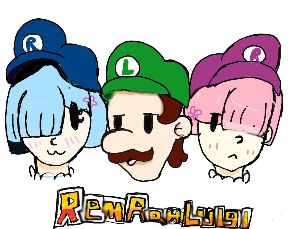 RemRamLuigi fanart by pitwithabow