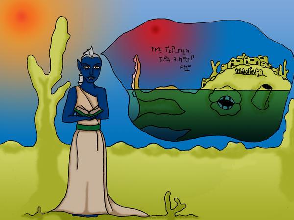 Blue Shadow Merfolk by devonette