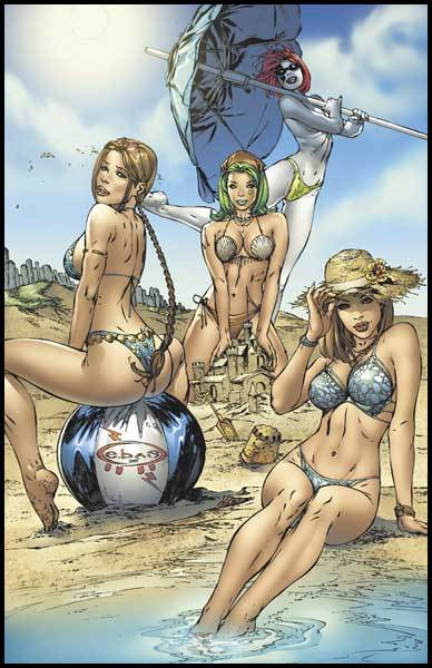 Topcow girls on the beach by ebas