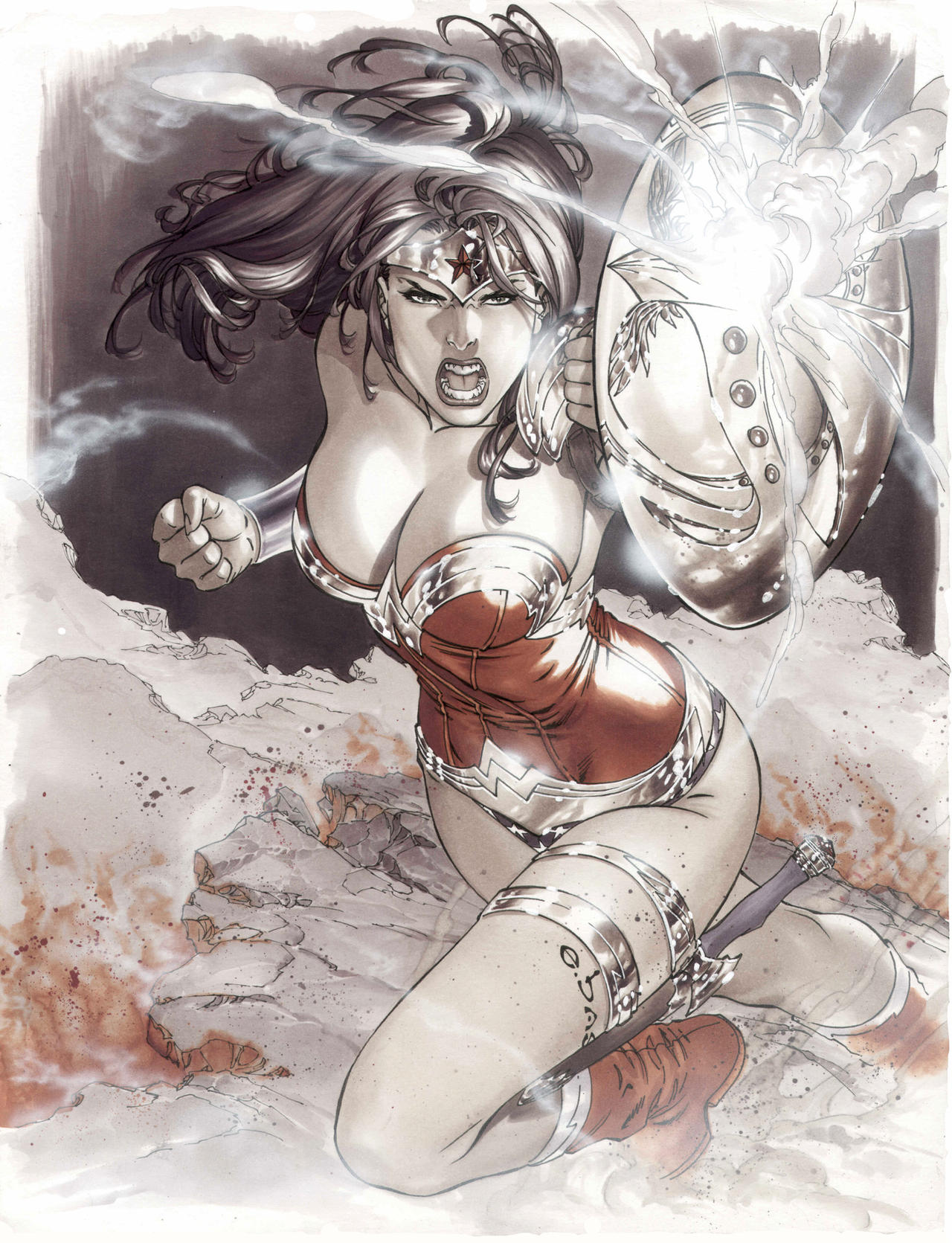 battle wonder woman by ebas