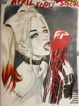 Harley Quinn licking blood