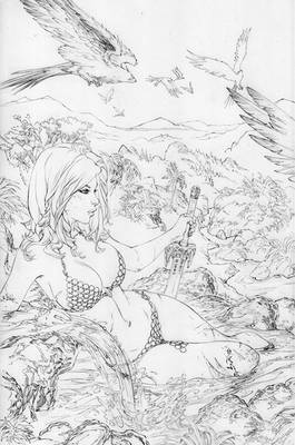 Red Sonja relaxing