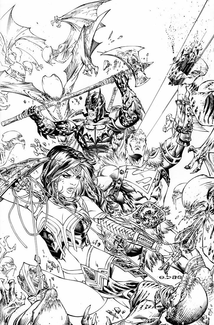 eBas Justice League in Darknights Metal by ebas