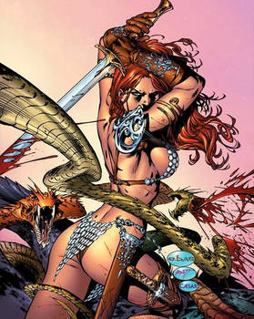 eBas Red Sonja ass attack