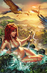 Red Sonja river ebas Nei colors SMALL