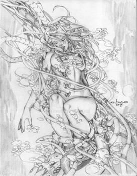 eBas Aphrodite IX pencil commission
