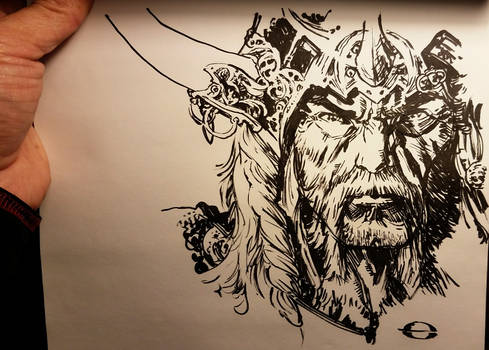 no pencil Barbarian straight to ink
