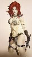 eBas copic sketch of Red Sonja