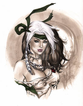 Savageland Rogue sultry Copic bust  eBas