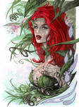 Poison Ivy bust in Copic by me eBas
