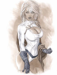 PowerGirl in Copic color by me eBas