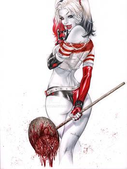 Harley Quinn GO ASS bloody mallet
