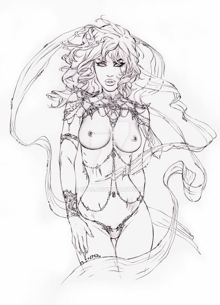 TOPLESS Cara from Ancient Dreams by me eBas by ebas