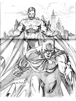 World's finest Superman and Batman by me eBas