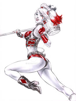 Jumping away Harley Quinn