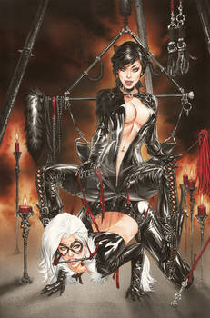 Black Cat CatWoman Straddling eBas