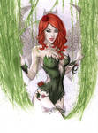 Poison Ivy Drapery done in Copic marker by me eBas