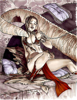 Stubborn Slave Leia by me eBas in Copic