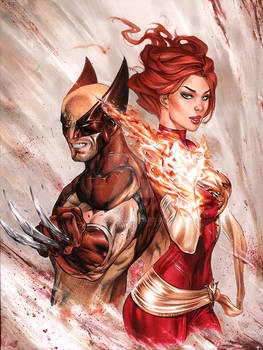 Wolverine Dark Phoenix in Copic by me ebas