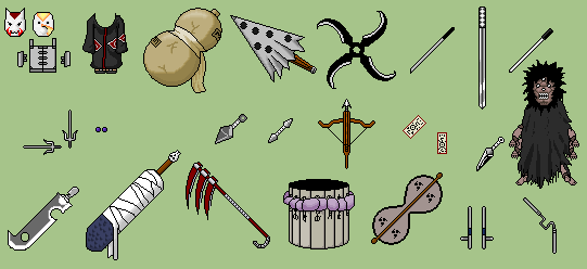 Naruto weapons by Booggyman on DeviantArt