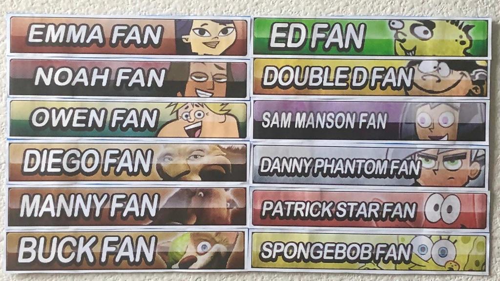 Character Fan Button Assortment