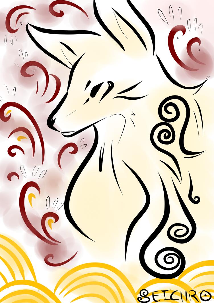 Doodlefox by tou-chan