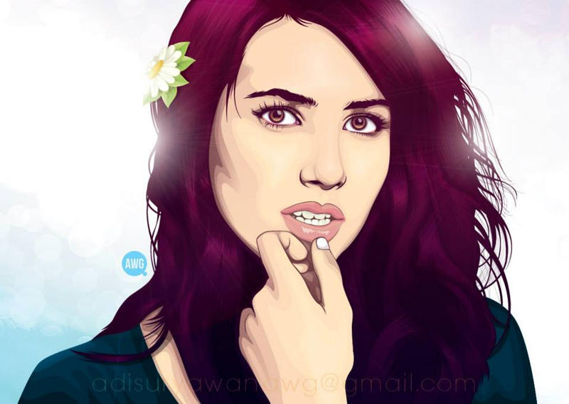 Emma Roberts by awgvector