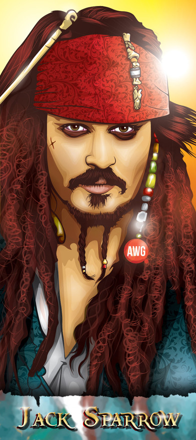 Jack Sparrow by awgvector
