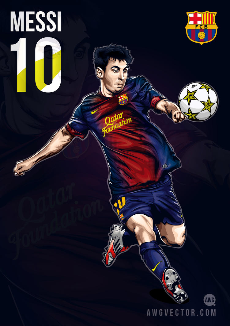 Messi by awgvector