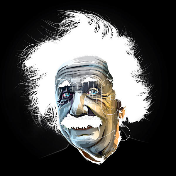 Albert Einstein! by awgvector