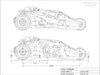 Tumbler orthographic drawing