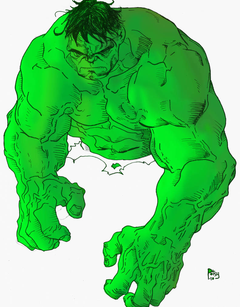 WIP Tim Green Hulk Color by RPotchak on DeviantArt