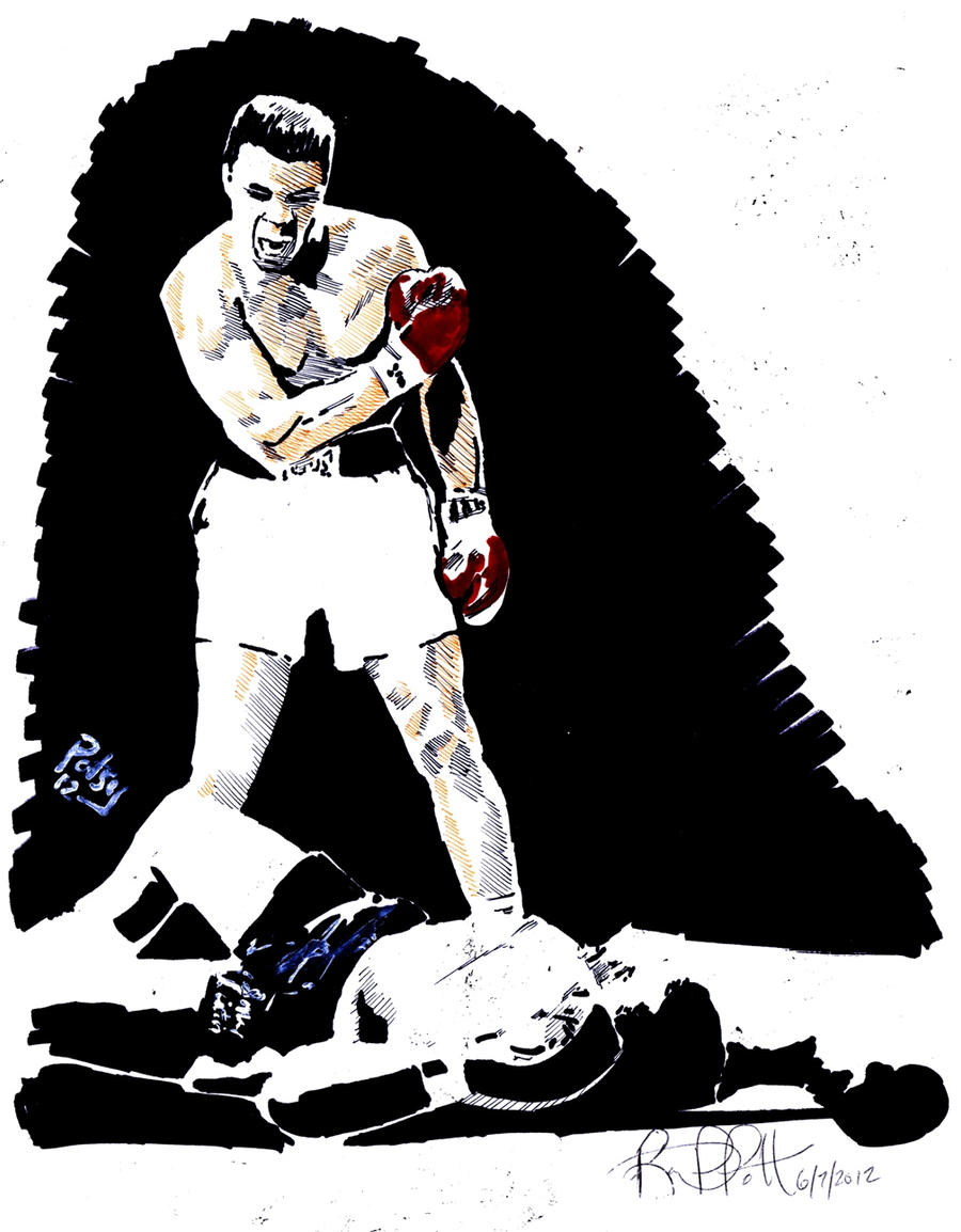 ali vs liston coloring pages - photo#28