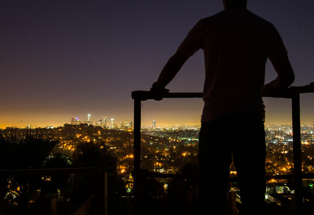 Overlooking the city.