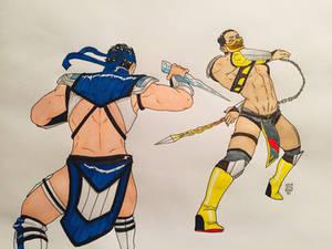 MK11 Bikini Fight ~ Kuai Vs Hanzo