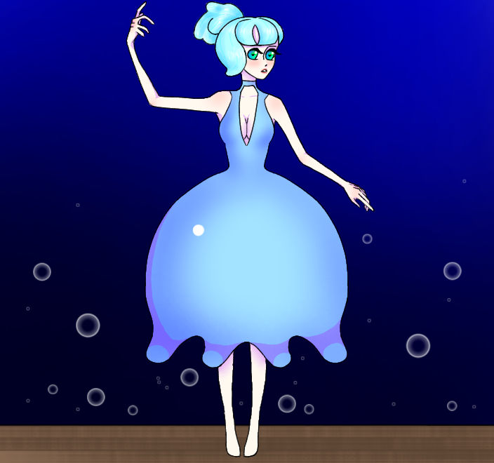 Jellyfish Dress   Short Ponytail Version by NoBulletOne on DeviantArt