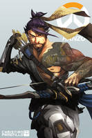 ONE HOUR FAN-ART: OVERWATCH HANZO by ChristianPamotillo