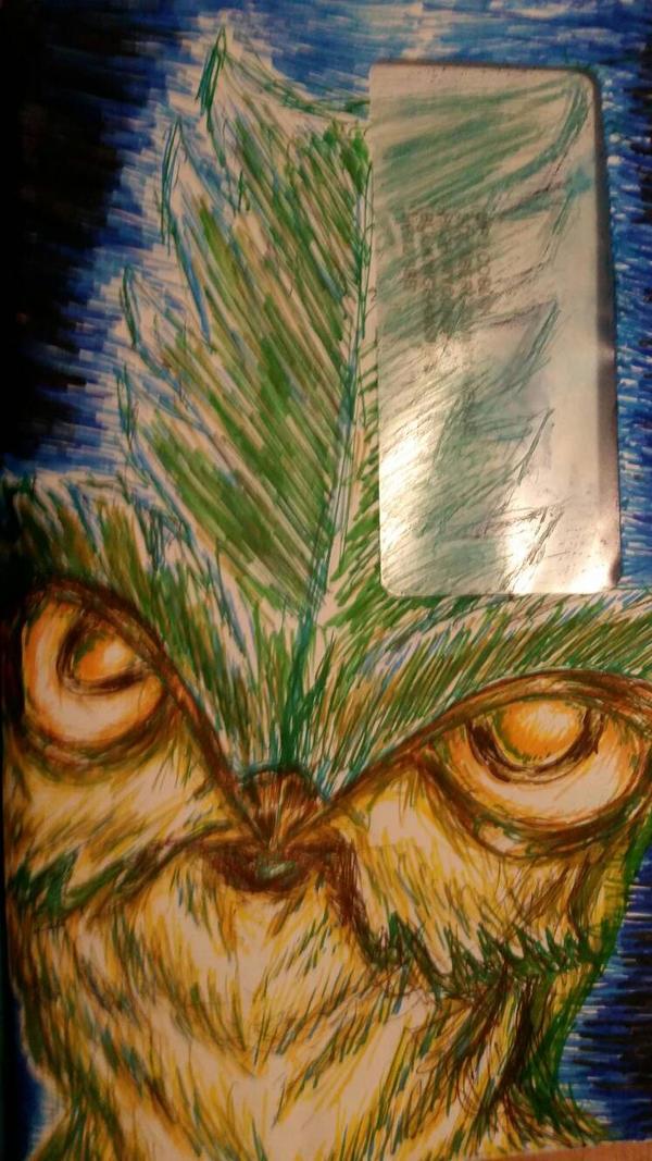 Bush Owl Envelope by nymzok