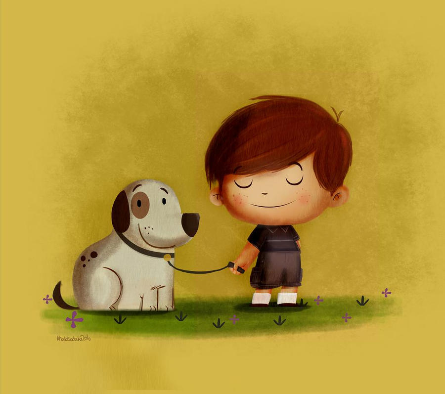 boy with his dog by hifzi