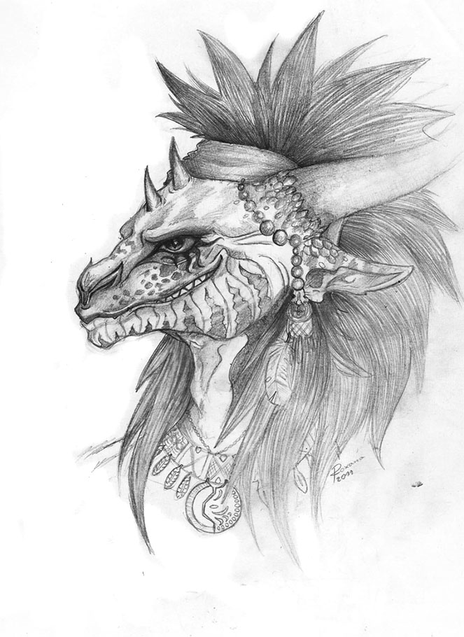 Half-Dragon by Arnne