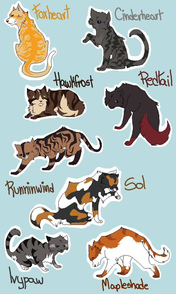warrior cat designs